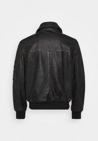 Diesel - L-STEPHEN JACKET - Leather jacket - black - 2