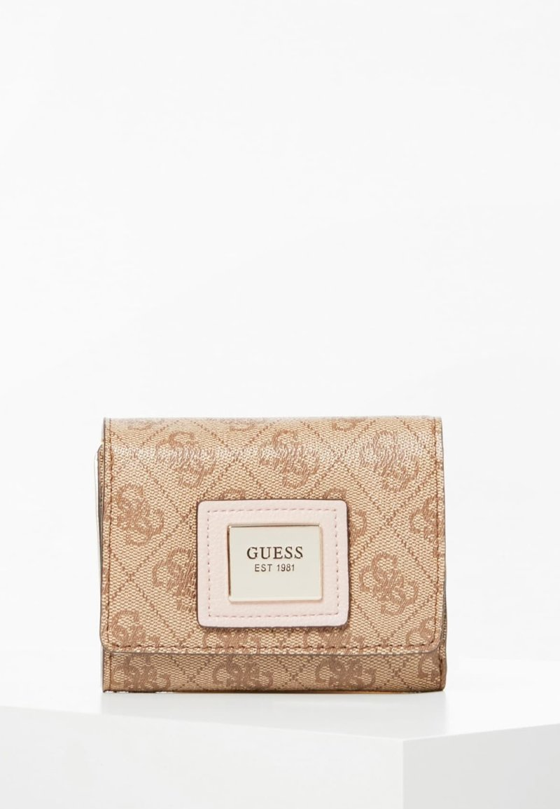 Guess - GUESS MINI-PORTEMONNAIE CANDACE 4G-LOGO - Portefeuille - mehrfarbig braun