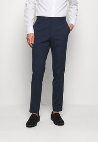 Isaac Dewhirst - CHECK SUIT DOUBLE BREASTED - Completo - dark blue - 4