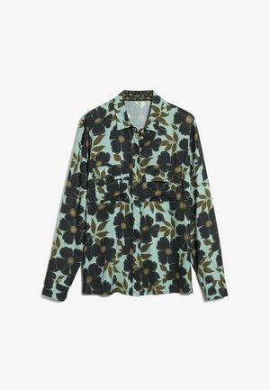 M-LALLY-F - Button-down blouse - aqua/petrol