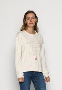 Ecoalf - LLANESALF BECAUSE WOMAN - Sweatshirt - light beige - 0