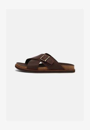 AMALFI VIBES - Mules - dark brown