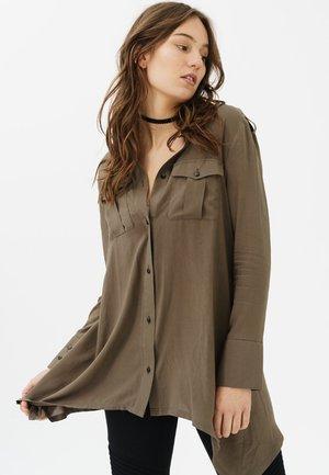 REBEKKA - Button-down blouse - olive