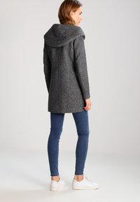 ONLY - ONLSEDONA - Short coat - dark grey melange - 2