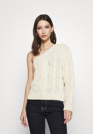 NORMA ONE SHOULDER  - Pullover - offwhite