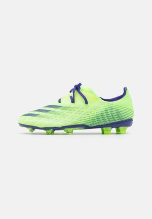 X GHOSTED.2 FOOTBALL BOOTS FIRM GROUND - Moulded stud football boots - signal green/energy ink/semi solar slime