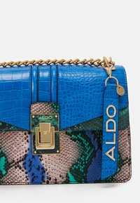 ALDO - BISEGNA - Across body bag - blue/green/light gold