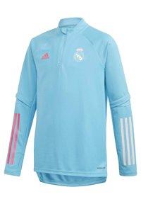 adidas Performance - REAL MADRID AEROREADY FOOTBALL PULLOVER - Long sleeved top - turquoise - 1