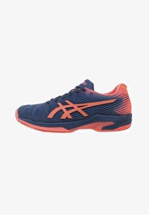 SOLUTION SPEED FF CLAY - Clay court tennis shoes - dark blue/orange