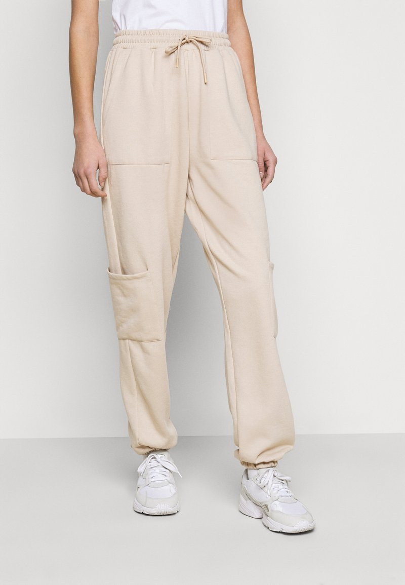 Topshop Tall - UTILITY JOGGER - Tracksuit bottoms - stone