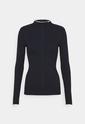HIGH NECK WITH CONTRAST PIPING - Jumper - night