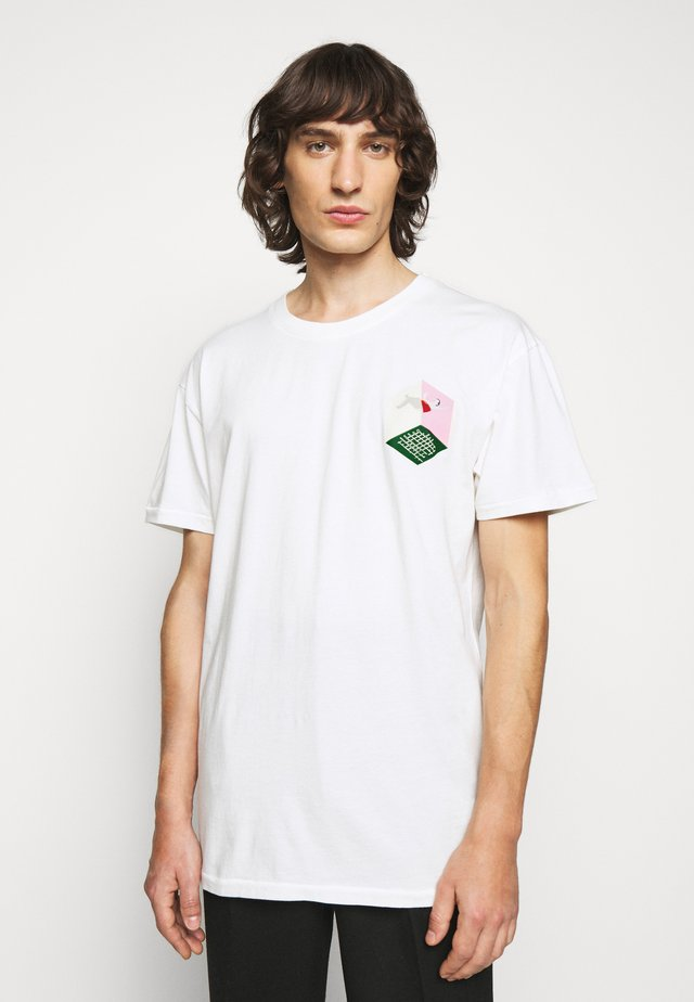 MAN IN BATHROOM TEE - T-shirt print - white / multi-coloured