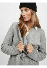 Vila - Classic coat - light grey melange - 3
