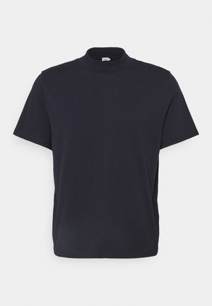 CAMERON MOCKNECK TEE - T-shirt basic - navy