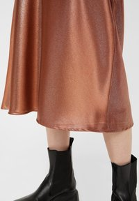 Pieces - Pleated skirt - root beer - 3