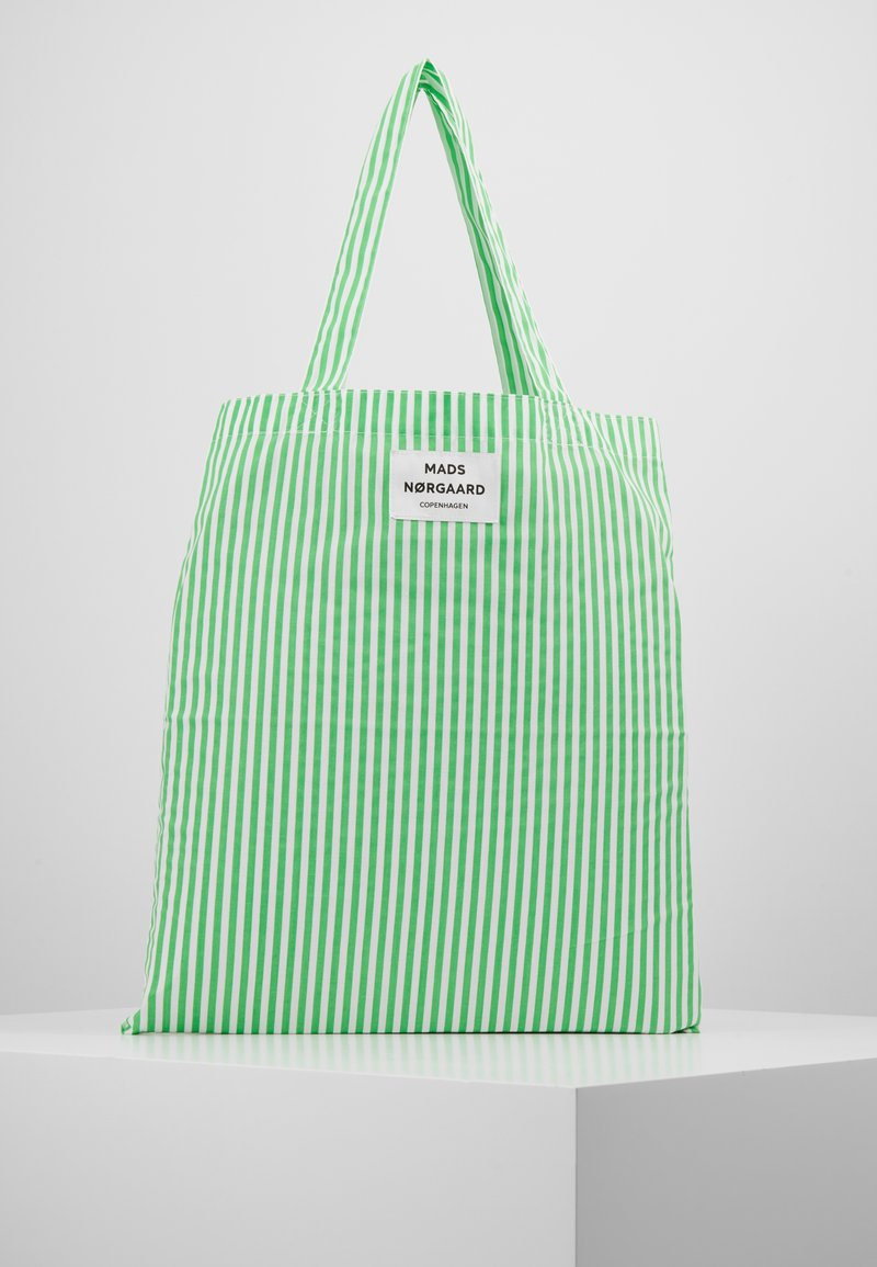 Mads Nørgaard - ATOMA - Tote bag - white/green