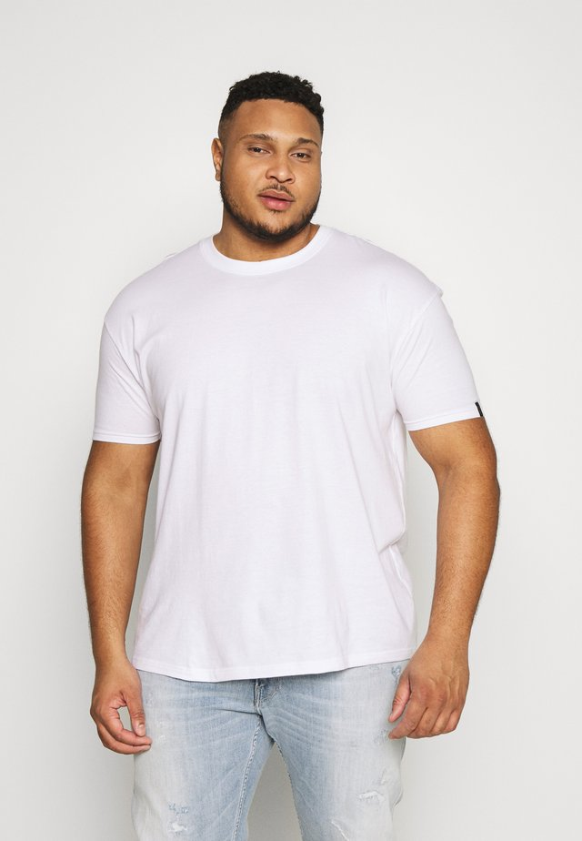 PLUS BOX FIT FLASH TEE - T-shirt - bas - white