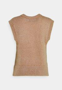 PIECES Tall - PCGRETA O NECK VEST - T-shirt imprimé - warm taupe - 1