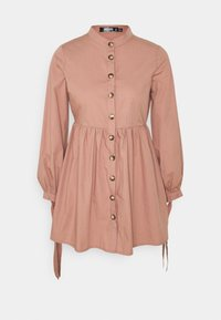 Missguided Petite - TIE CUFF SHIRT DRESS  - Shirt dress - blush - 0