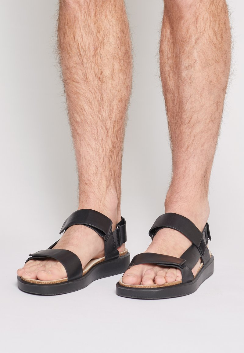ECCO - CORKSPHERE  - Sandals - black