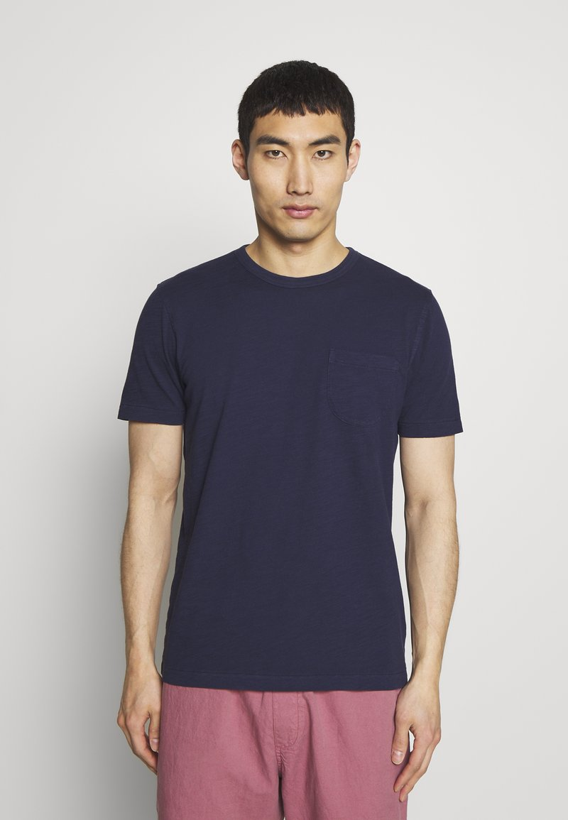 YMC You Must Create - WILD ONES POCKET TEE - Basic T-shirt - navy