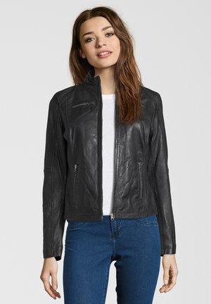 SUSAN - Leather jacket - black