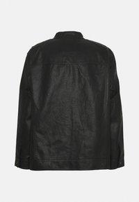 Jack & Jones - JJEWARNER JACKET - Faux leather jacket - black - 1