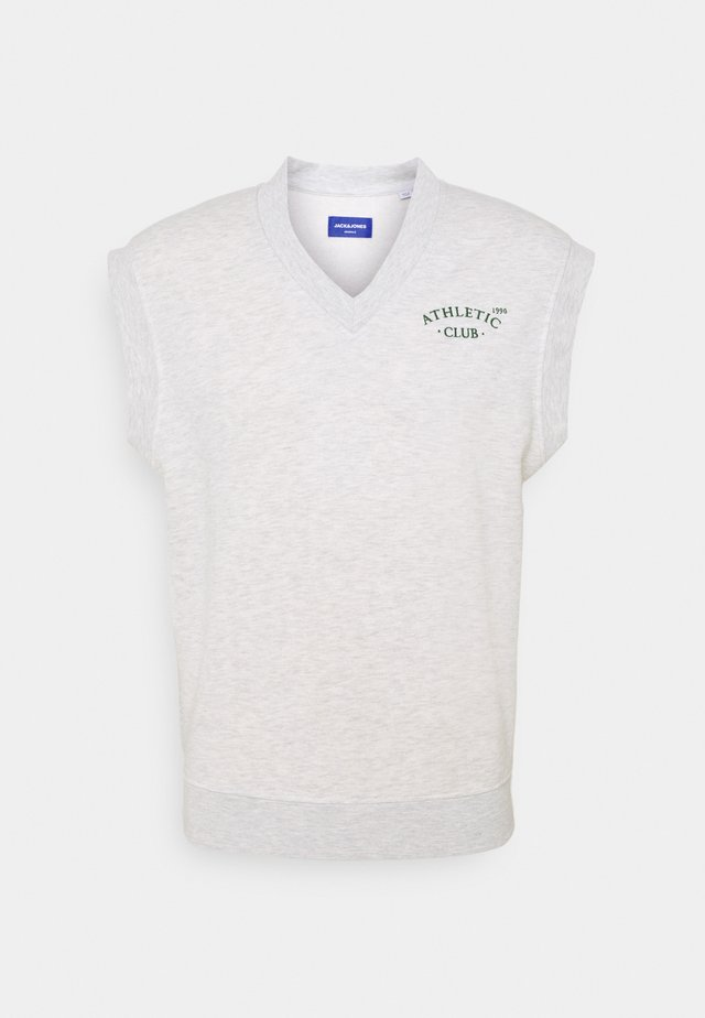 JORTOBIAS V-NECK VEST UNISEX - Sweatshirts - white melange