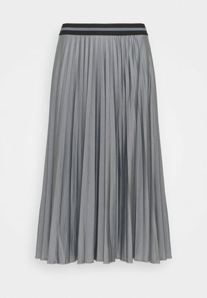 PLEATED SKIRT - Pleated skirt - gunmetal
