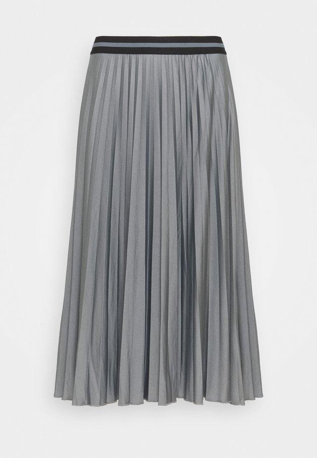 PLEATED SKIRT - Pleated skirt - gunmetal