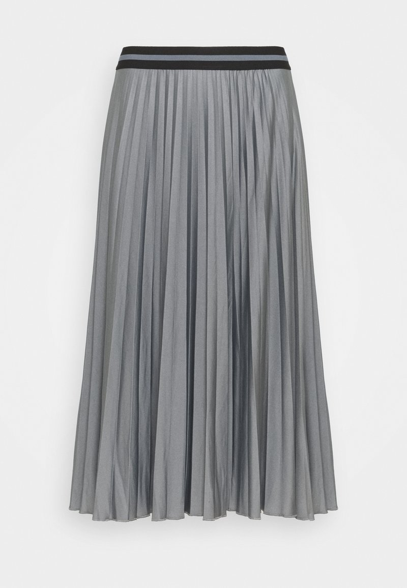 Esprit - PLEATED SKIRT - Pleated skirt - gunmetal