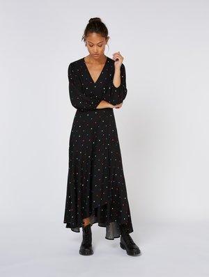 Maxi dress - black with artwork