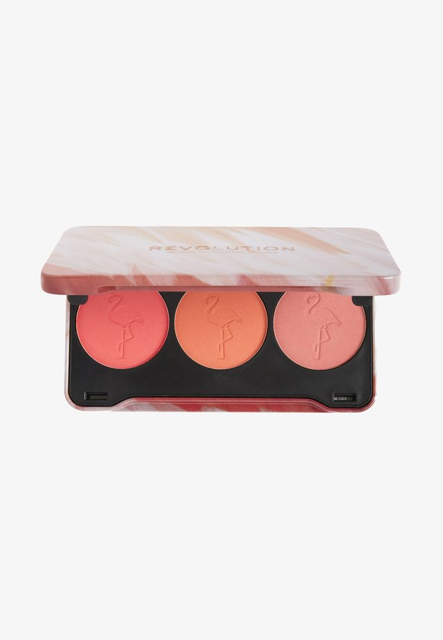 FLAMINGO MINI TRIO BLUSH OH MY BLUSH - Gezichtspalet - oh my blush