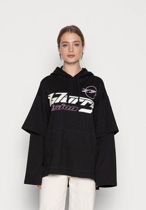LAYER HOODIE - Sweatshirt - black