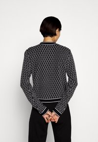 KARL LAGERFELD - TEXTURED CARDIGAN - Cardigan - black/white - 2