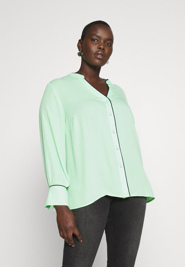 BUTTON  - Blouse - pistachio