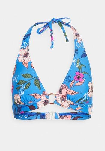 TRIANGLE - Bikini top - blue