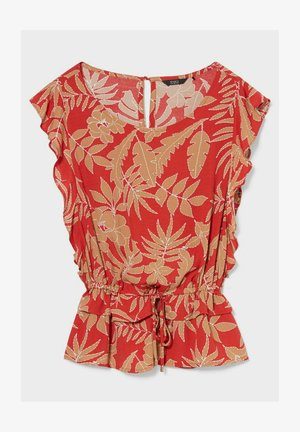 Blouse - red beige