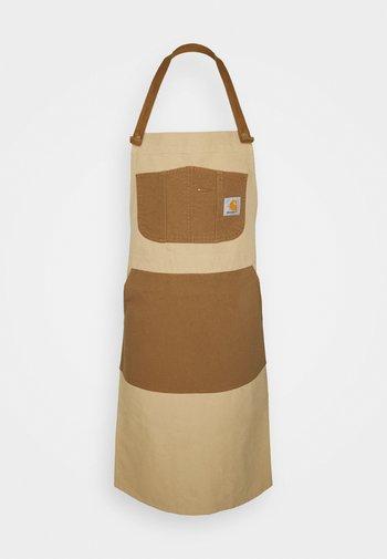 TONARE BIB APRON UNISEX - Other accessories - dusty brown/hamilton brown