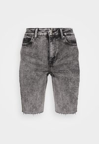 ONLY - ONLERICA LIFE MID RAW - Shorts di jeans - black denim - 4