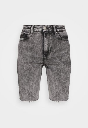 ONLERICA LIFE MID RAW - Denim shorts - black denim