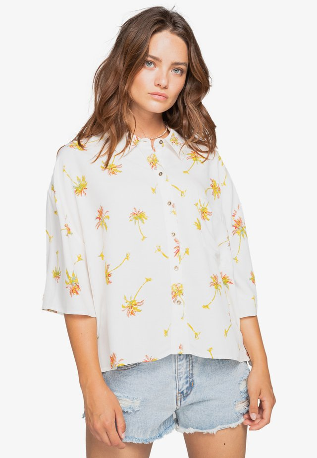 Button-down blouse - salt crystal