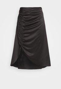 RUCHED SIDE SKIRT - A-line skirt - black