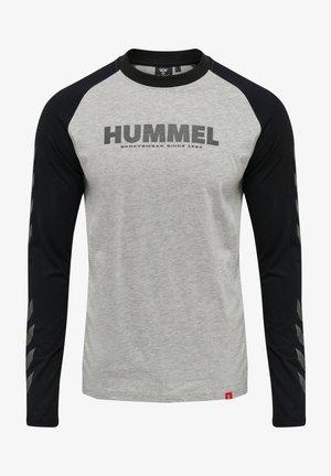 LEGACY BLOCKED - Langærmede T-shirts - grey melange