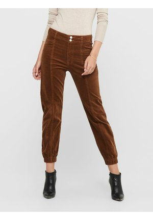 Trousers - tobacco brown