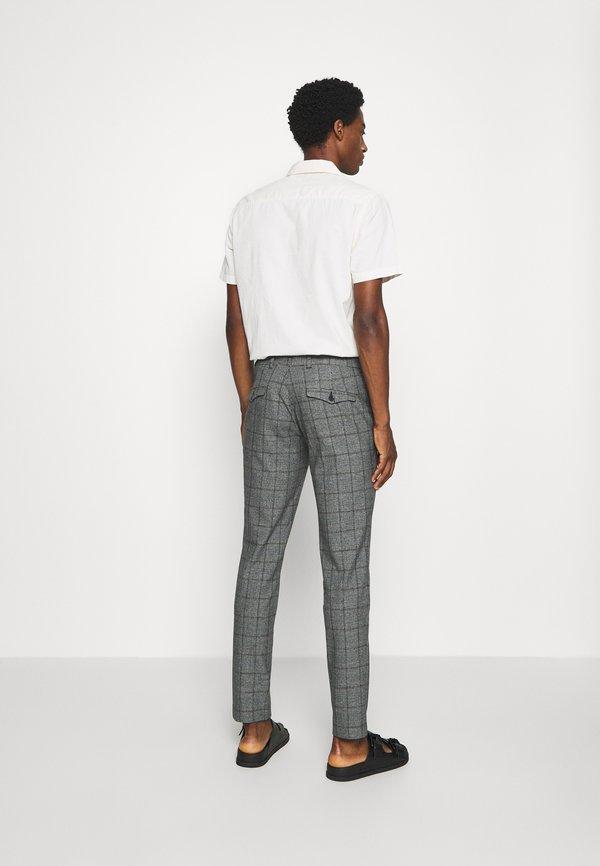 Selected Homme SLHSLIM CARLO COTFLEX PANTS - Spodnie materiałowe - dark grey/black/ciemnoszary melanż Odzież Męska OPBG