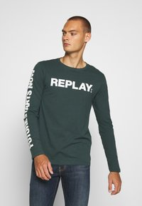 Replay - Long sleeved top - bottle green - 0