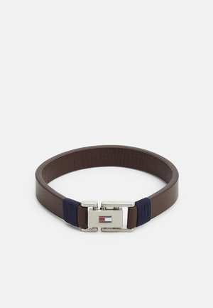 CASUAL - Armband - brown/silver