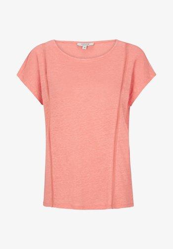 MIT NETZ-EINSATZ - Print T-shirt - coral