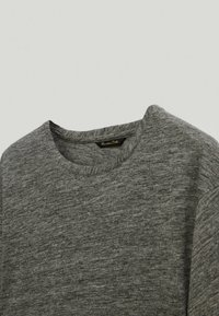 Massimo Dutti - T-Shirt basic - light grey - 2